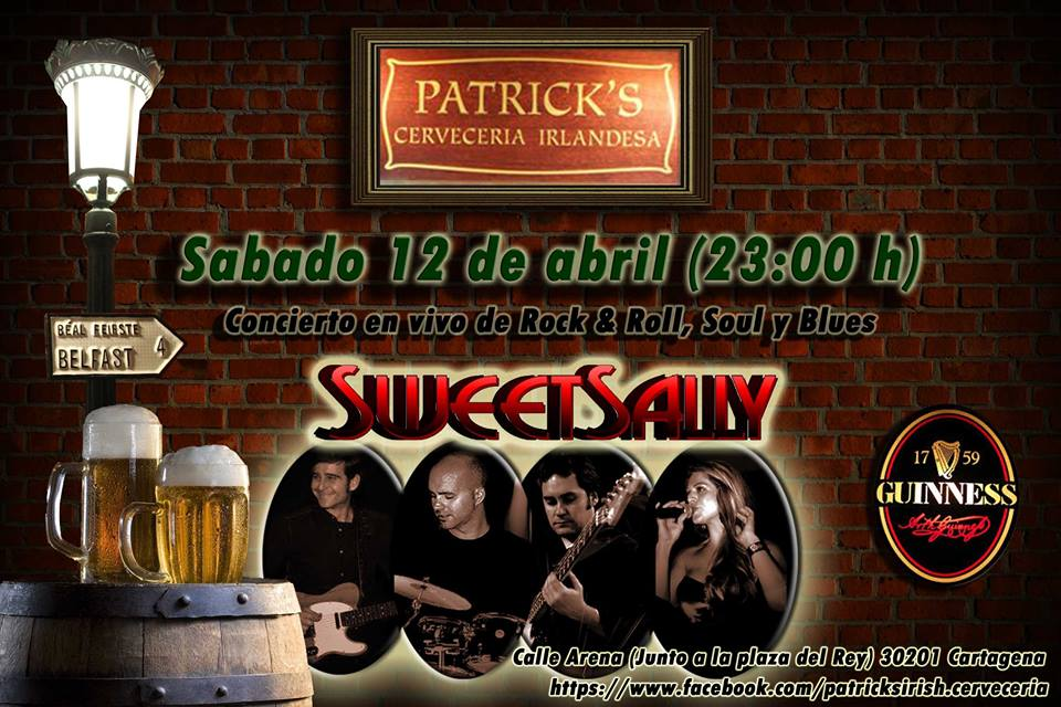 Actuación de Sweet Sally en Patricks, Cartagena